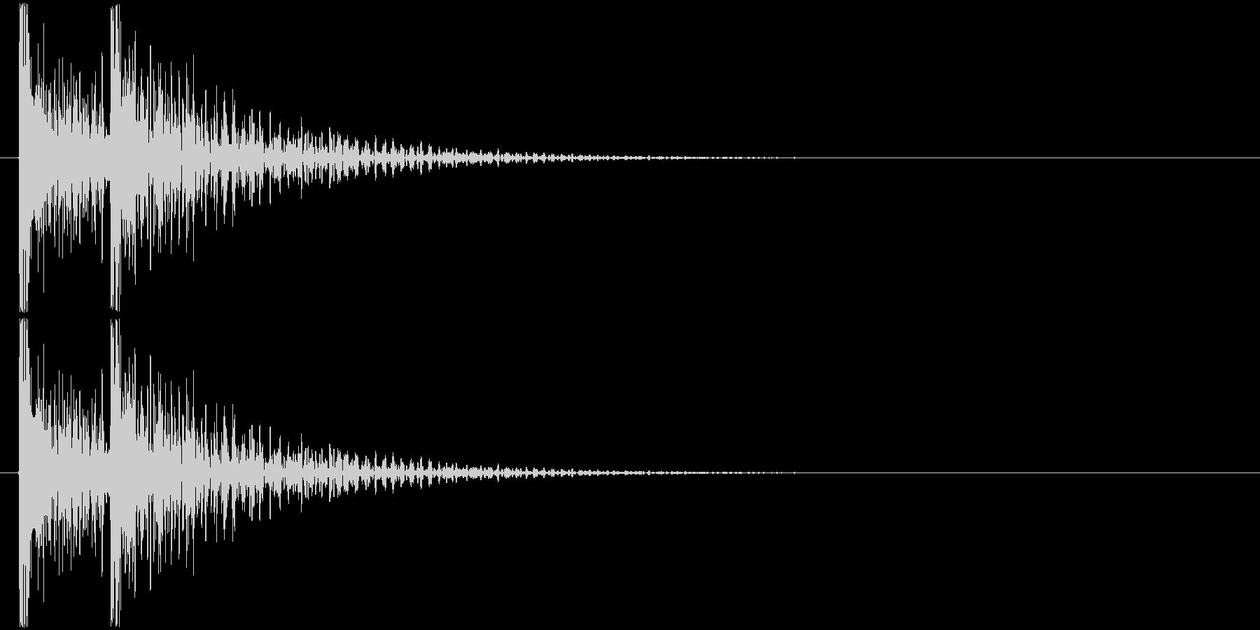 ドンドン! (扉をノック・2回)-Bの未再生の波形