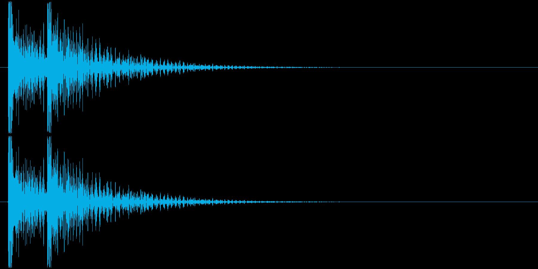 ドンドン! (扉をノック・2回)-Bの再生済みの波形