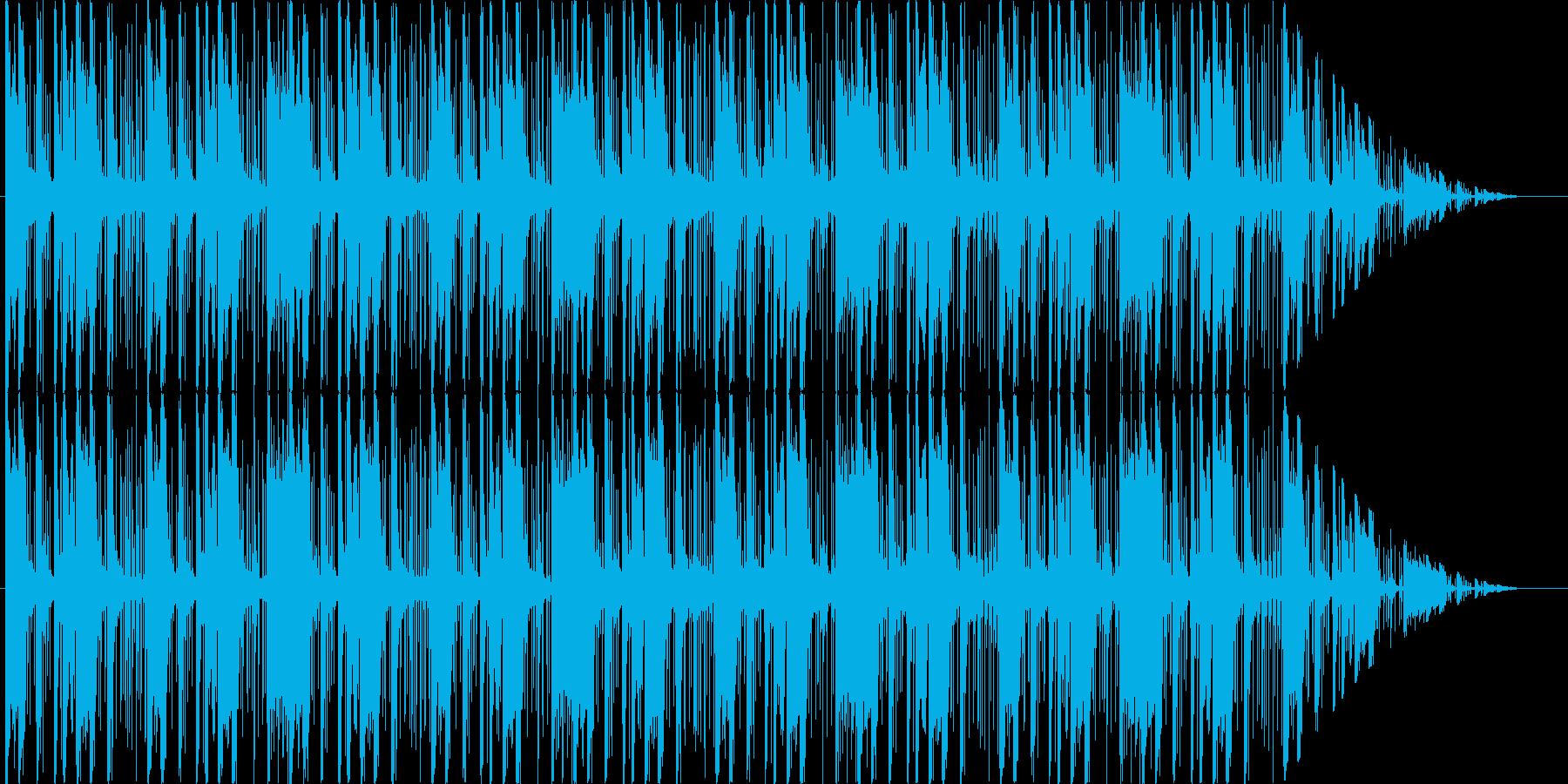 不気味、不安、深刻といった状況のBGMの再生済みの波形