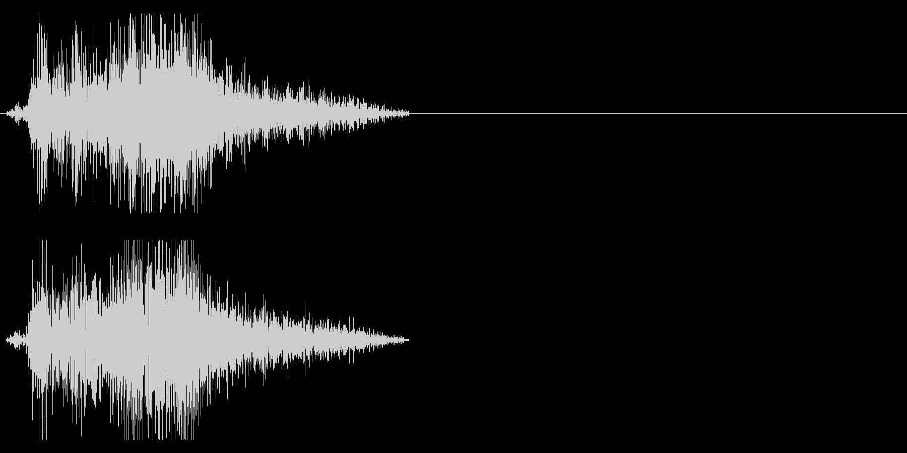 ビシュッ 斬撃音 刀などの未再生の波形