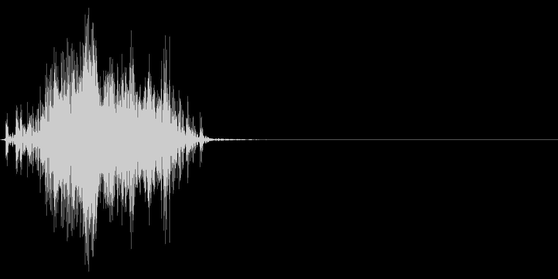 ジッパー、ファスナーを閉じる音2-2の未再生の波形
