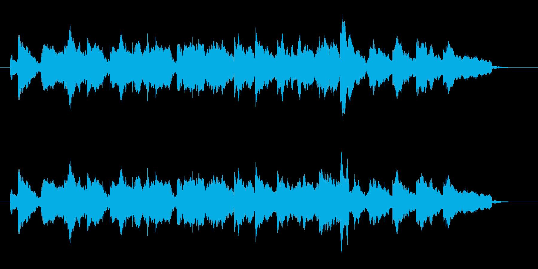 何かのイントロ的要素の短曲の再生済みの波形
