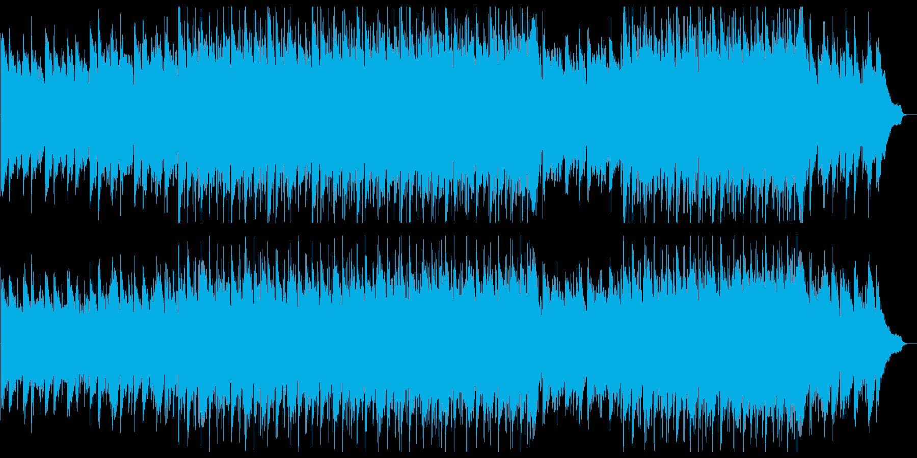 ひたむきに信念を貫く・ピアノ入りロックの再生済みの波形
