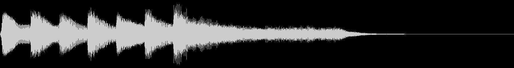 レトロなステージクリア音 正解 達成の未再生の波形