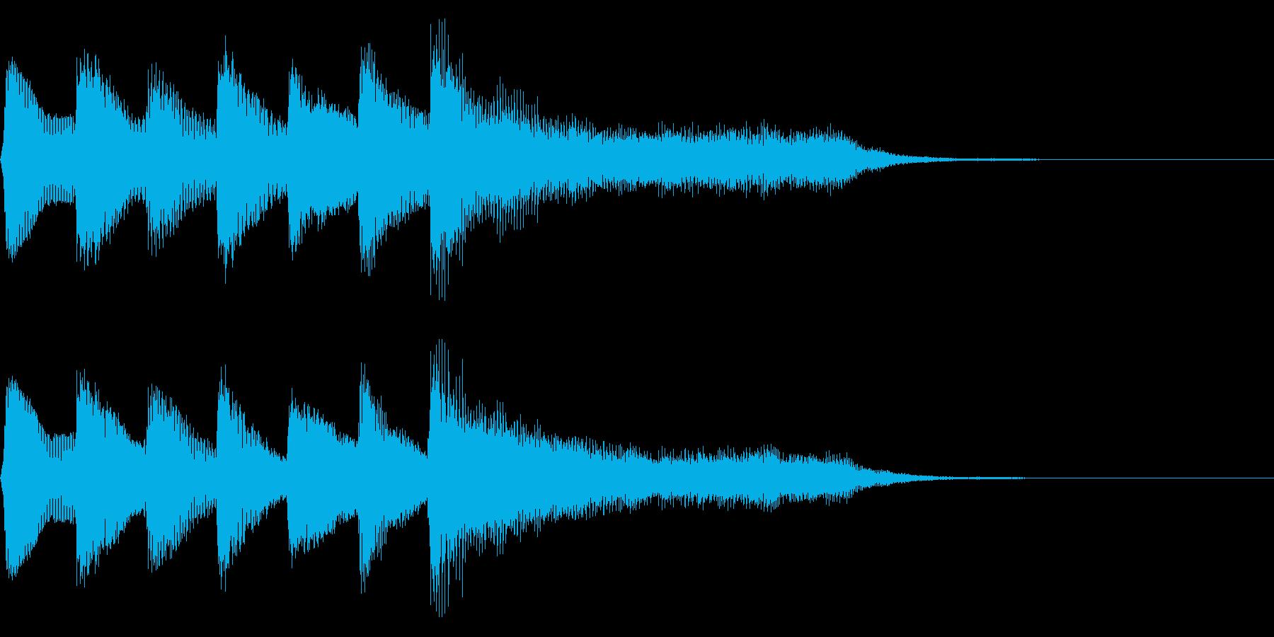 レトロなステージクリア音 正解 達成の再生済みの波形