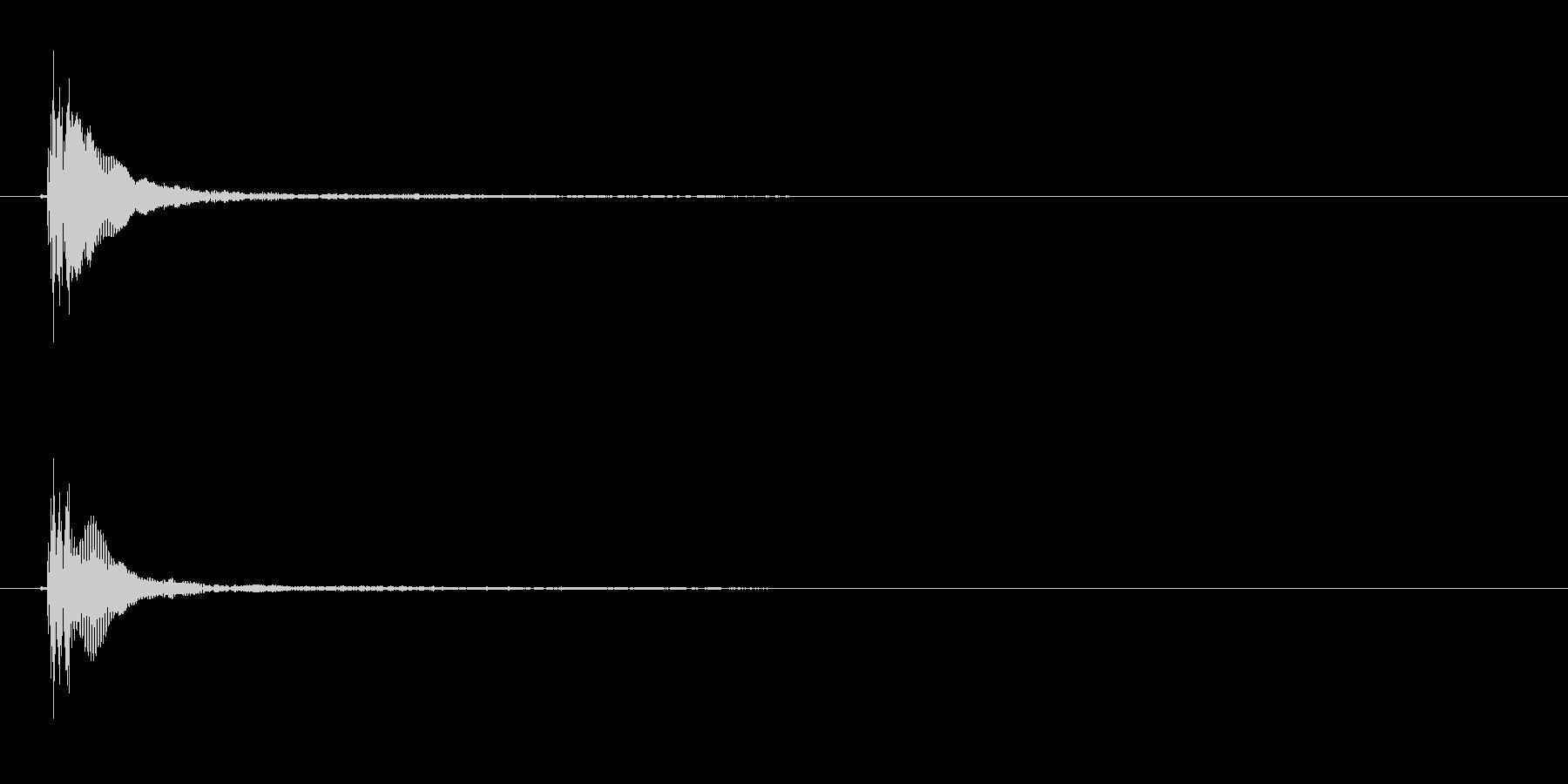 能や歌舞伎の小鼓(つづみ)の単発音+FXの未再生の波形