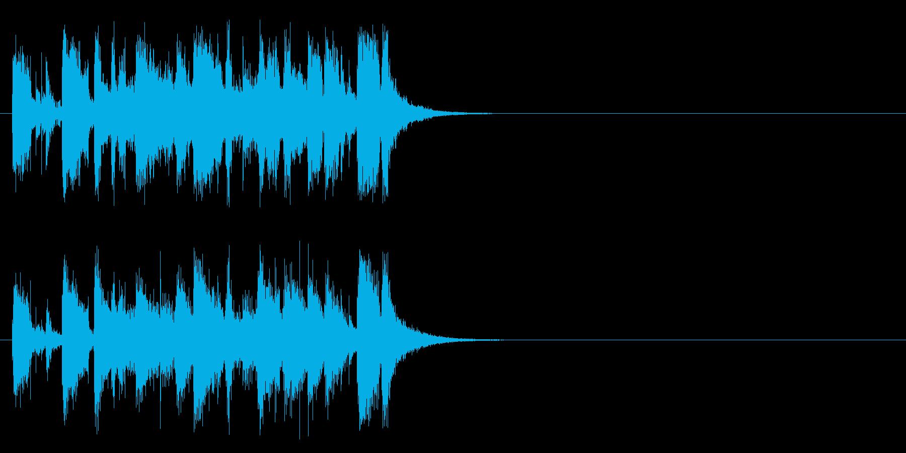 オープニング向けジングルの再生済みの波形