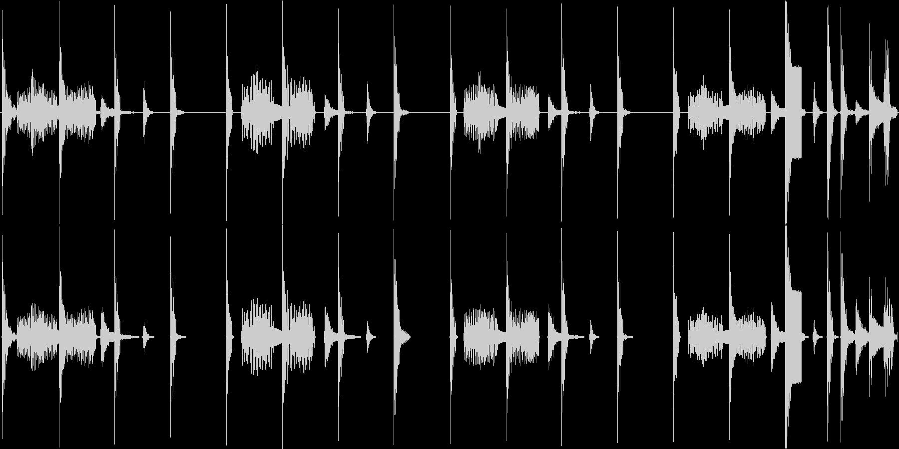 かわいらしい電子音で構成されたループ楽曲の未再生の波形