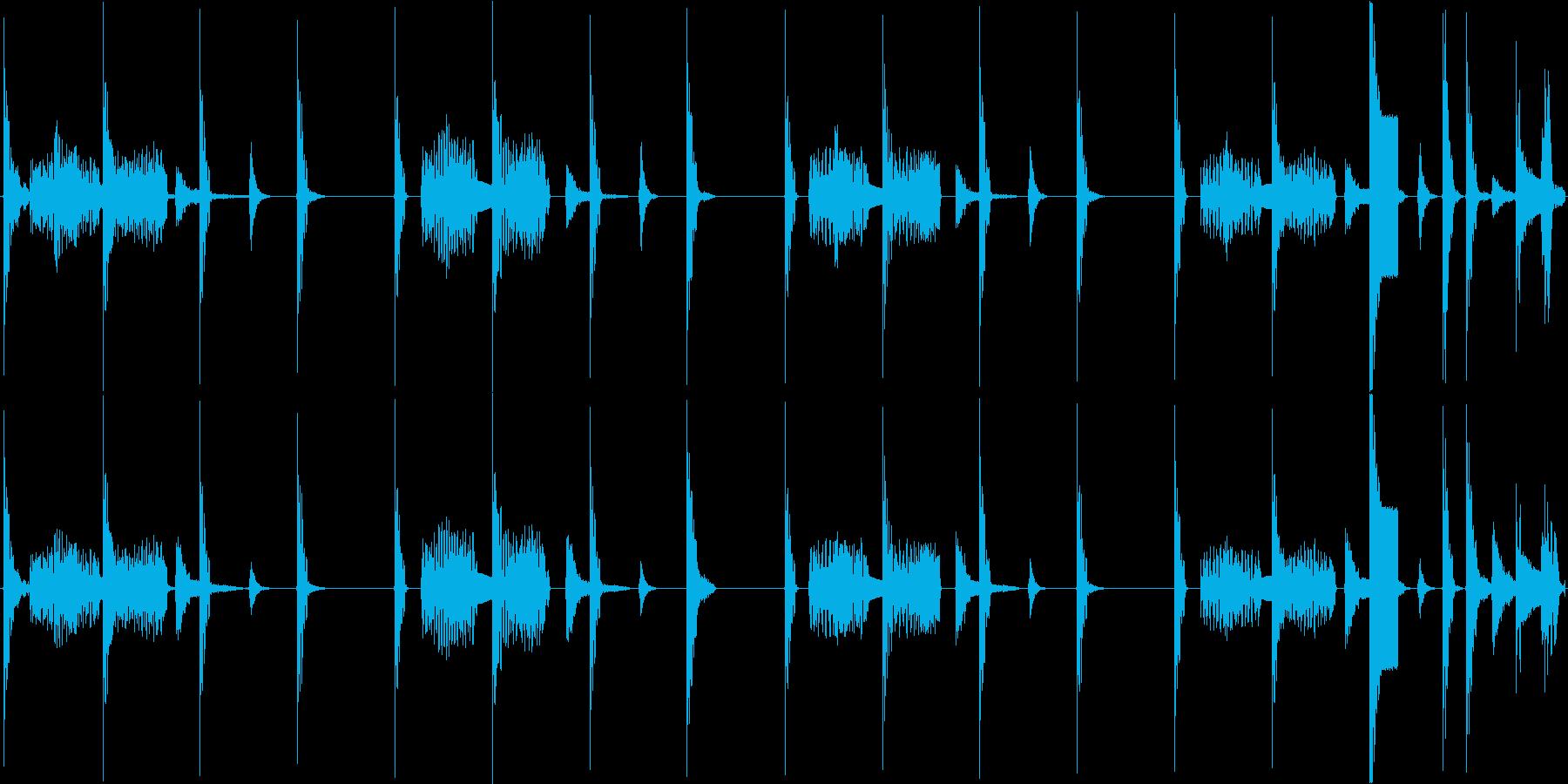 かわいらしい電子音で構成されたループ楽曲の再生済みの波形