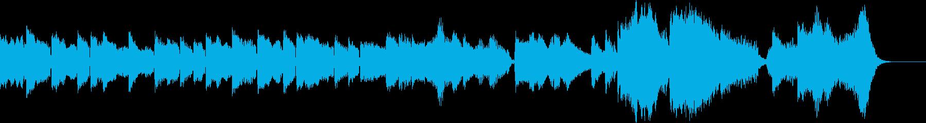 癒: あたたかく、やさしい雰囲気の曲の再生済みの波形