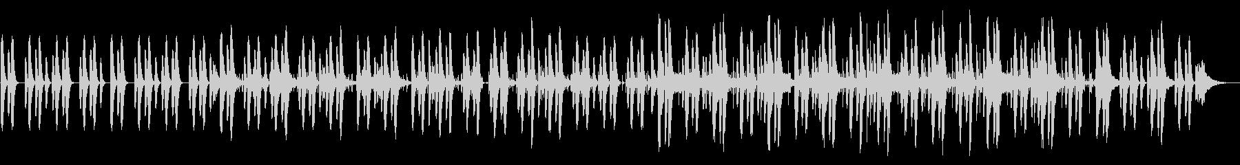 ゆったりほのぼのサウンドの未再生の波形