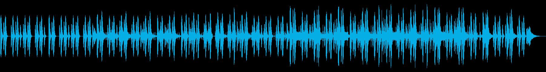 ゆったりほのぼのサウンドの再生済みの波形