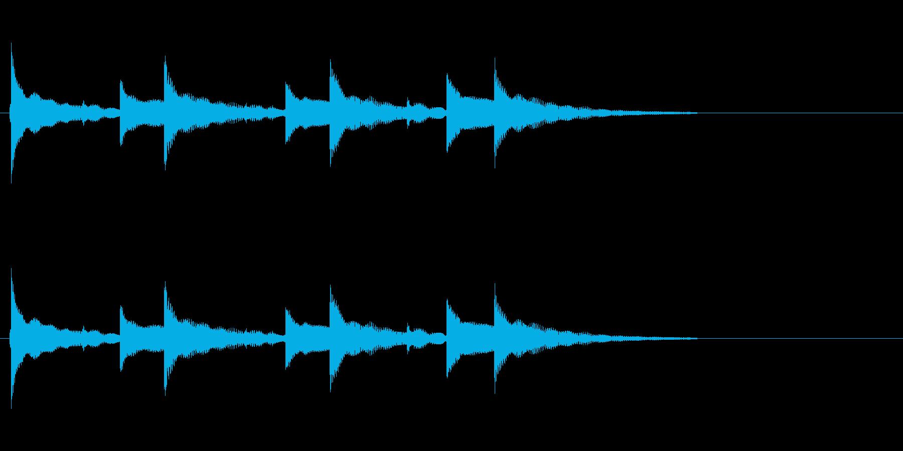 「ちゃららら×3+ら〜」ウクレレアラームの再生済みの波形