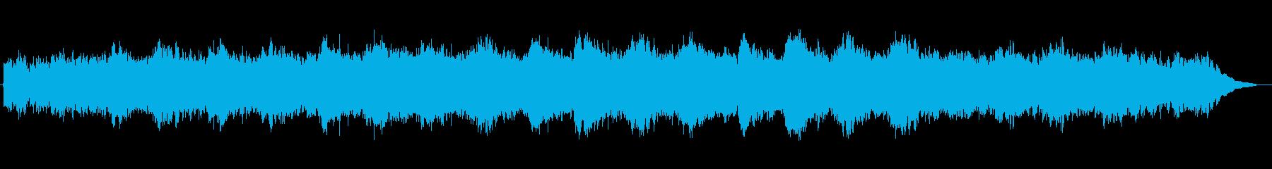 荘厳なシンセサイザーのインスト曲の再生済みの波形