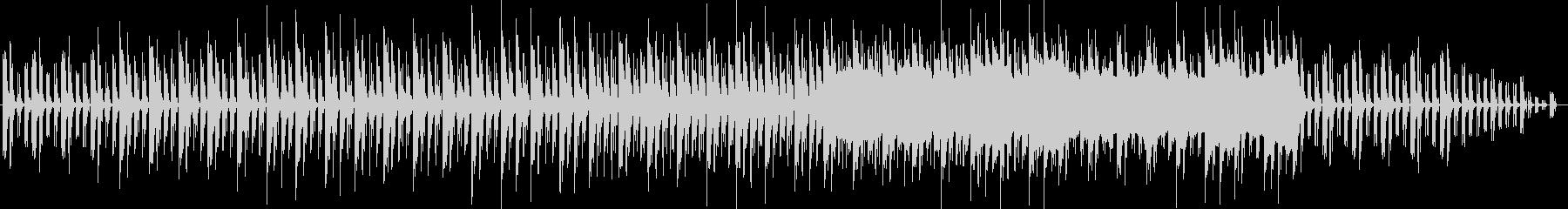 緊張感とシリアスな金属音ピアノサウンドの未再生の波形