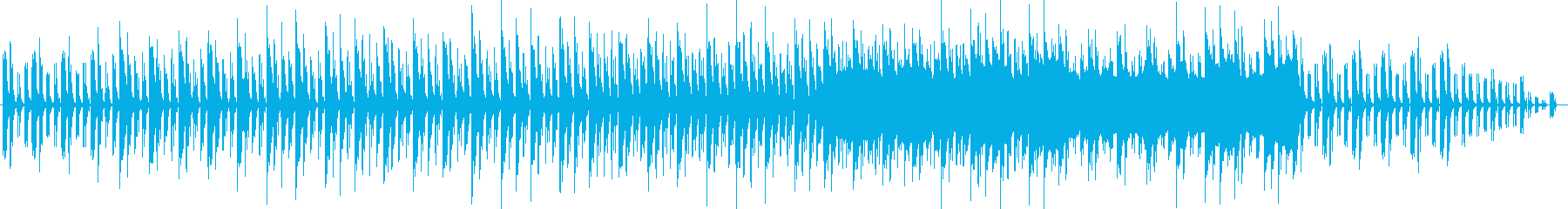 緊張感とシリアスな金属音ピアノサウンドの再生済みの波形