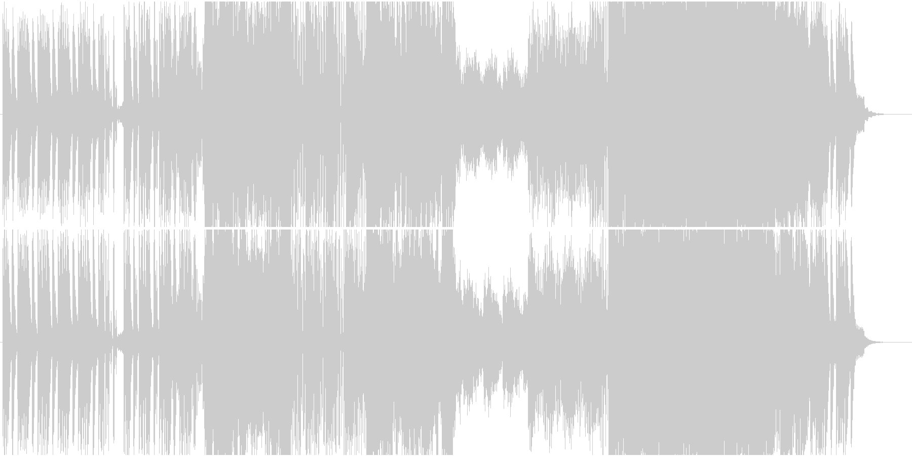 クセになる打音の未再生の波形