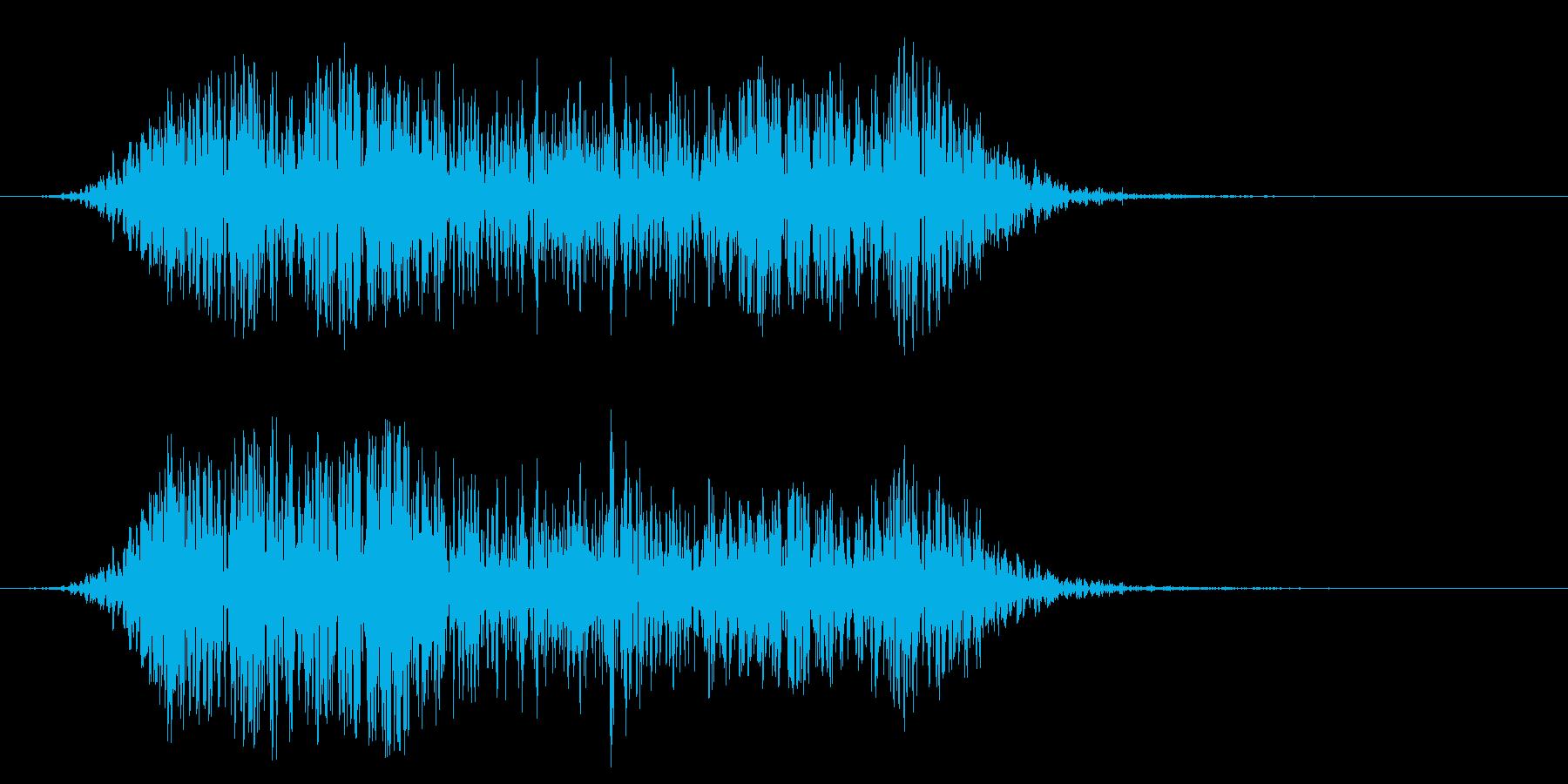崖崩れ 倒壊 地震 地響 災害 飛行機の再生済みの波形