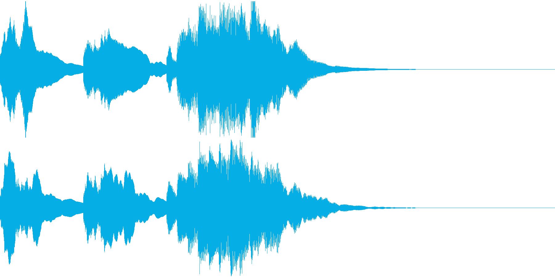 神秘的なクリスタル音03- ジングルCMの再生済みの波形
