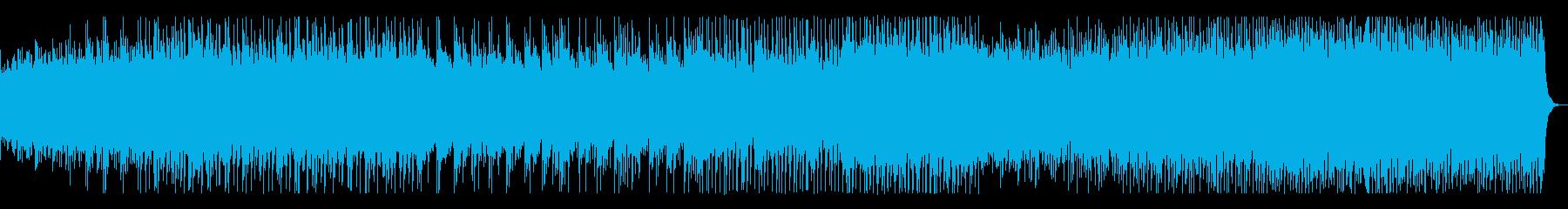 一区切りでトロピカル、スピード感ある曲の再生済みの波形