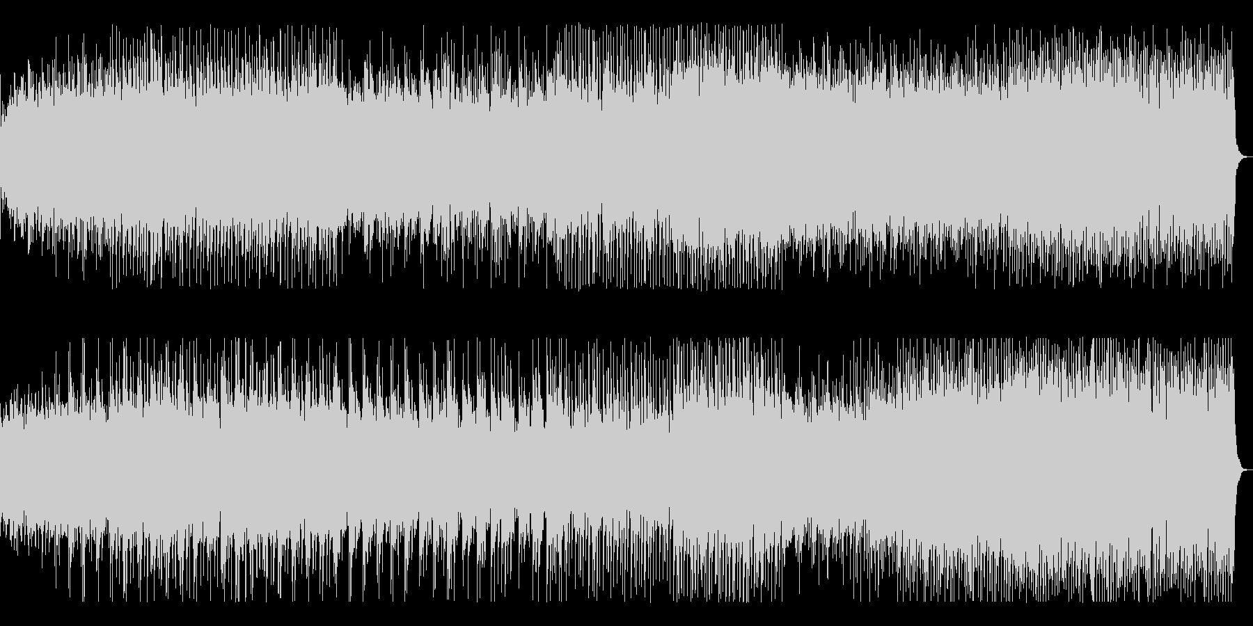一区切りでトロピカル、スピード感ある曲の未再生の波形