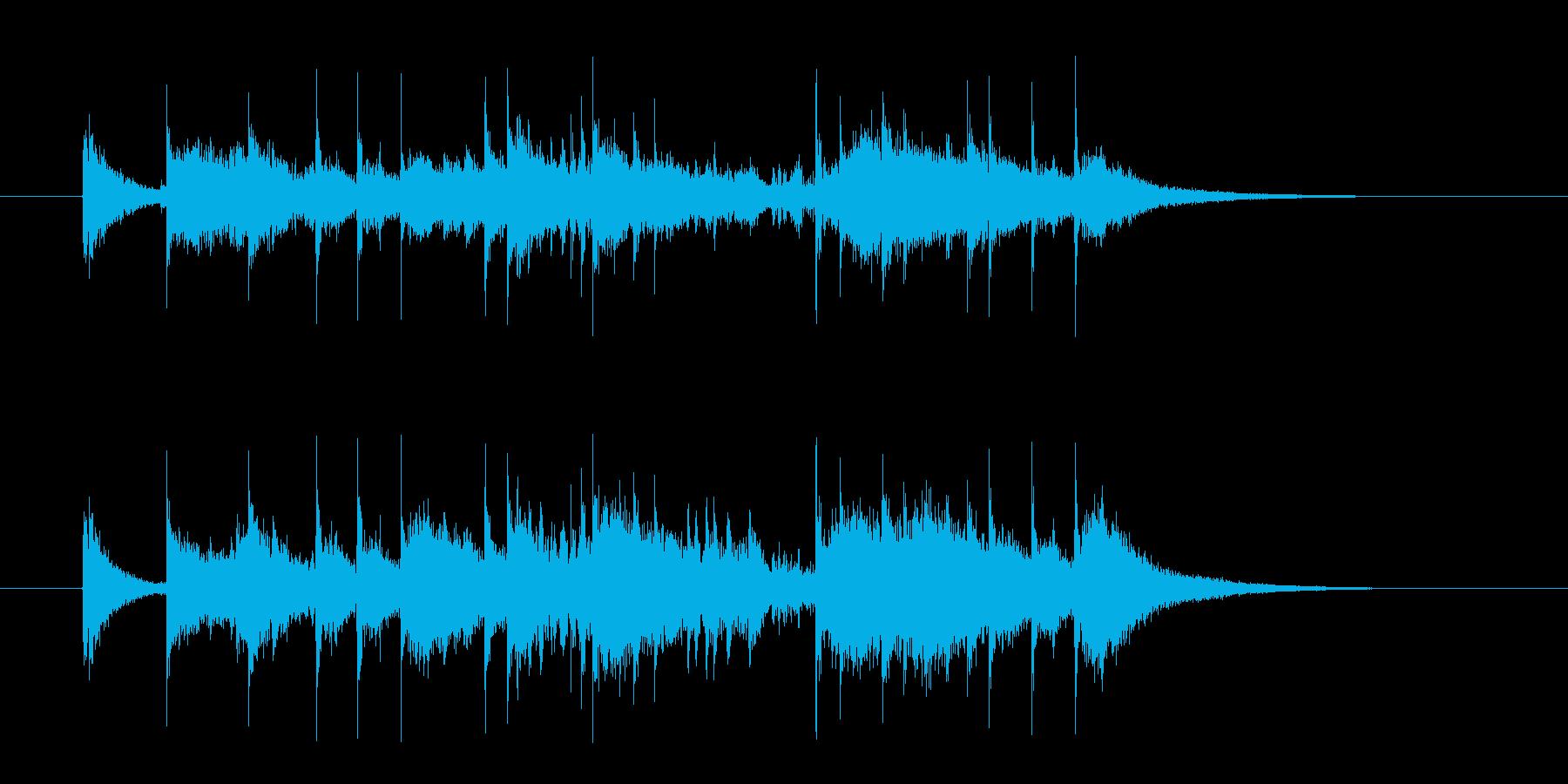 ドラムが華やかなジングルの再生済みの波形