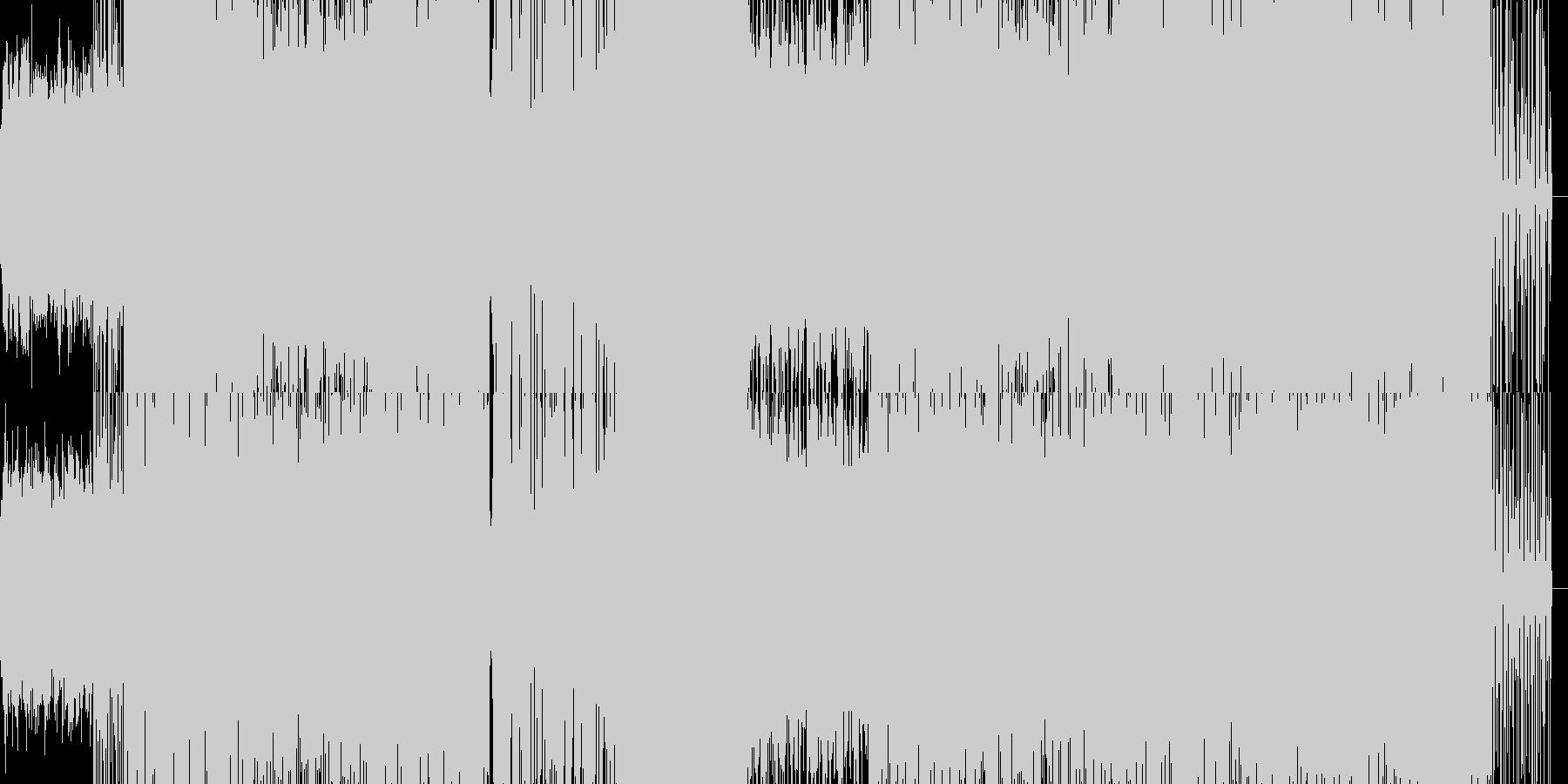 ミディアムテンポのラップ風楽曲の未再生の波形