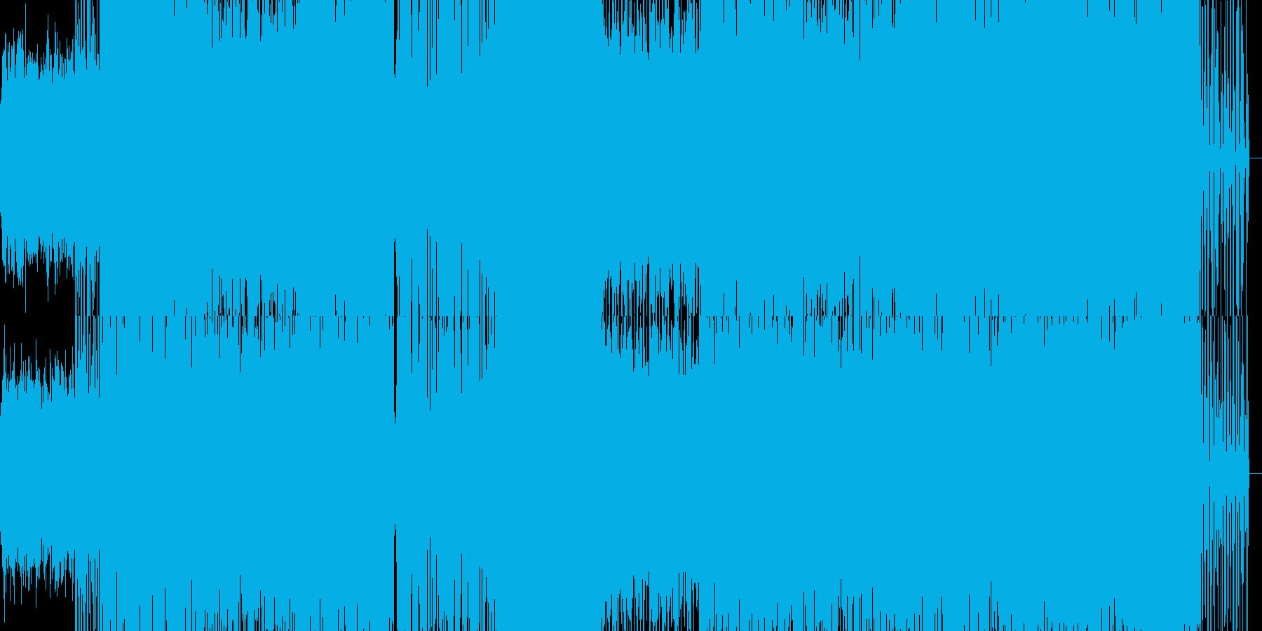 ミディアムテンポのラップ風楽曲の再生済みの波形