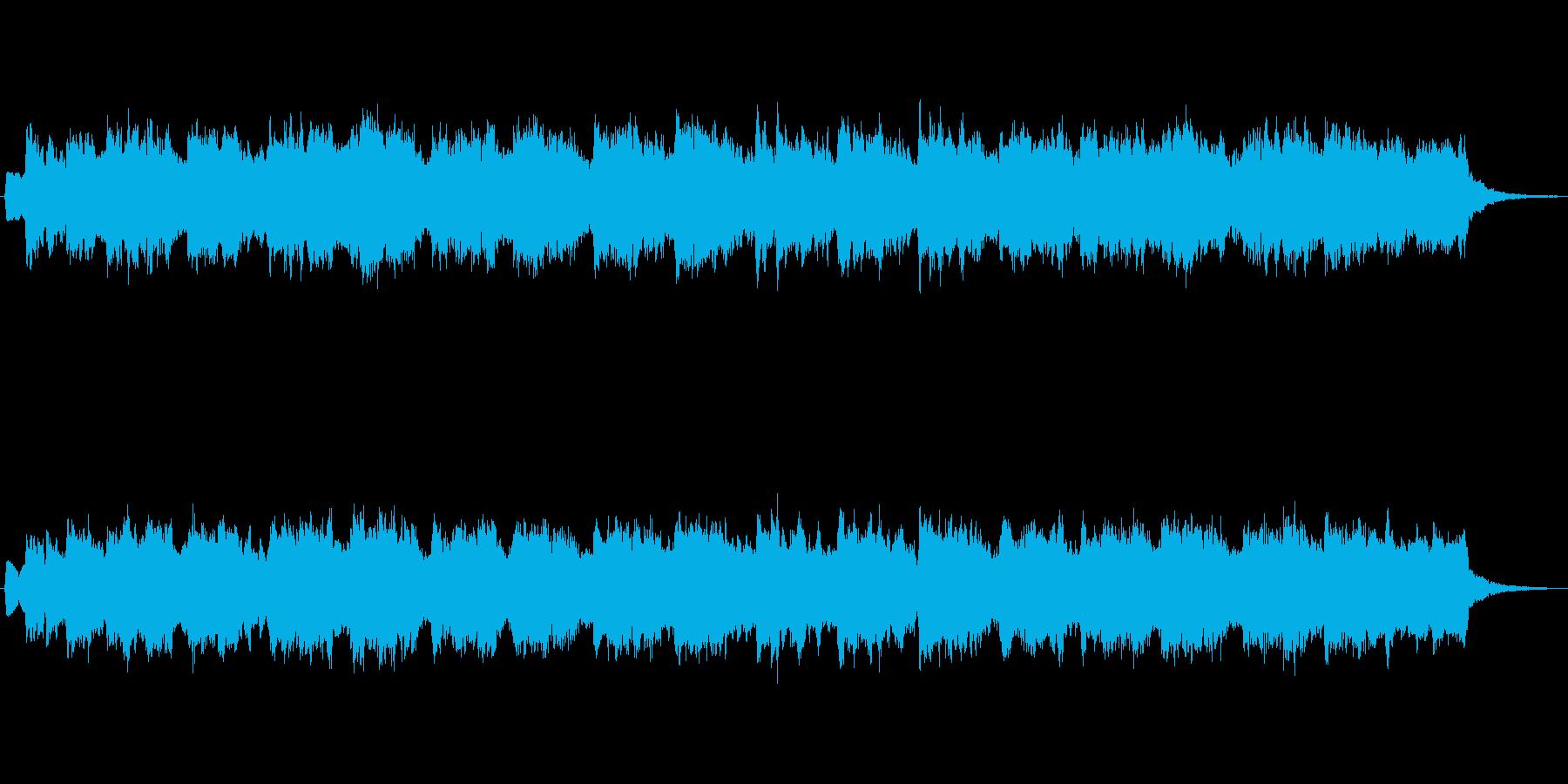 オルガンとシンセのほのぼのとしたジングルの再生済みの波形