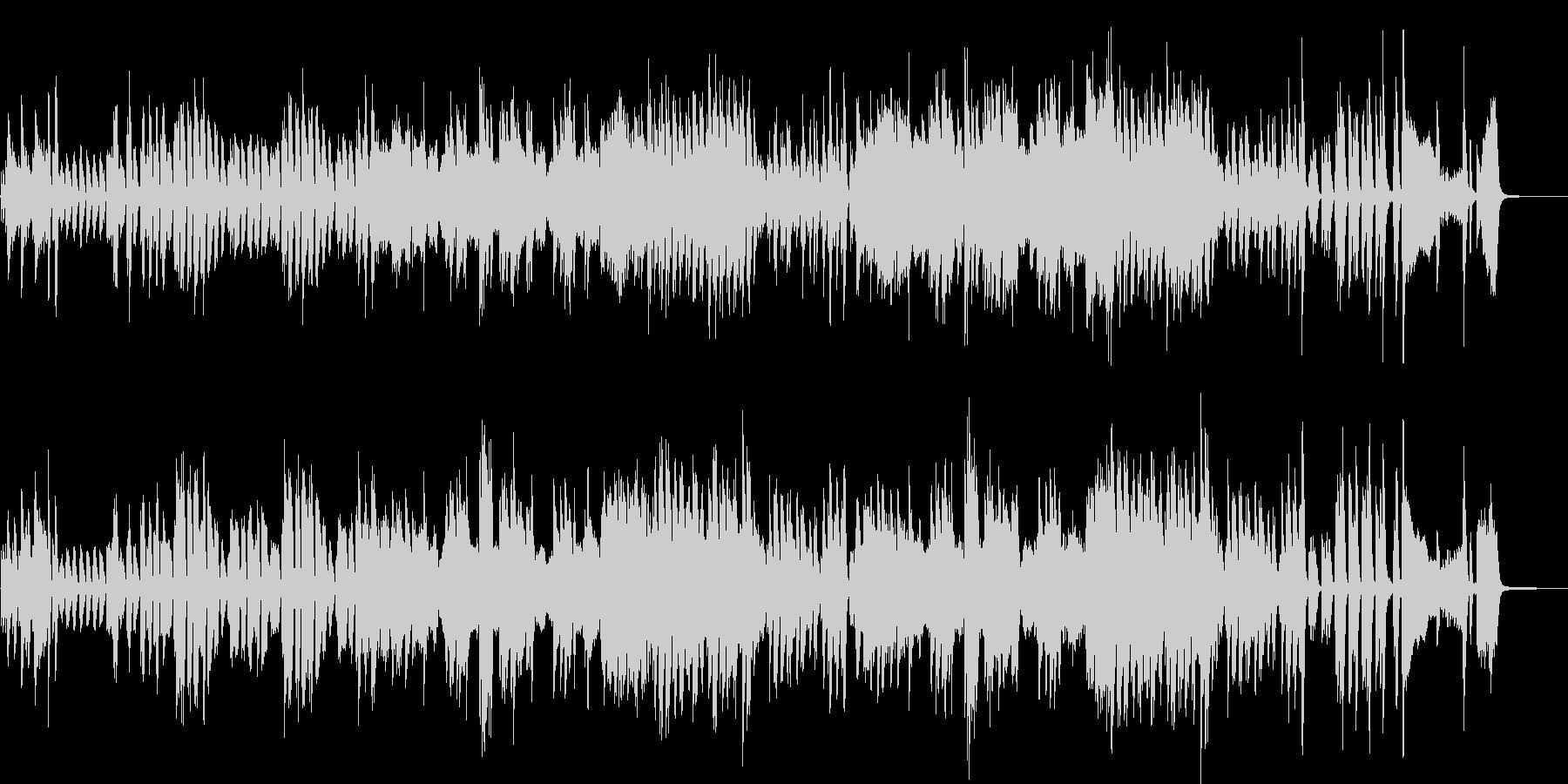 スキップしたくなる連弾ピアノの未再生の波形