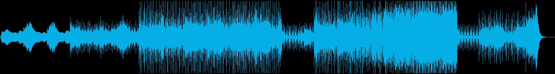 ダークで神秘的な曲の再生済みの波形
