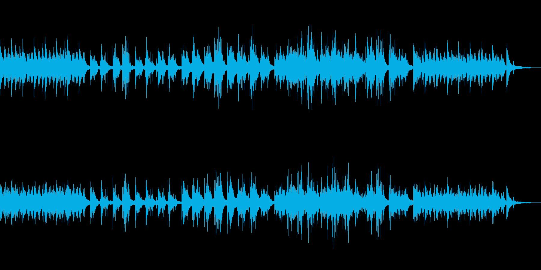 桜や春を想像する優しい映像用ピアノ曲の再生済みの波形
