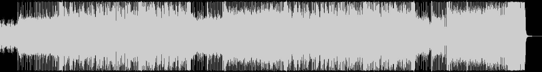 ノリの良い疾走感のあるロック調インストの未再生の波形