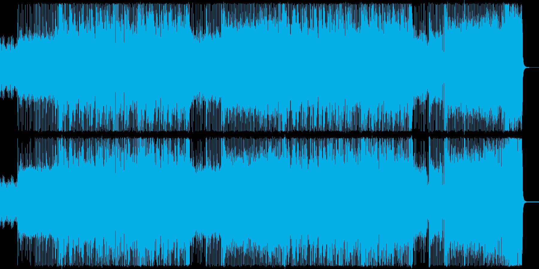 ノリの良い疾走感のあるロック調インストの再生済みの波形