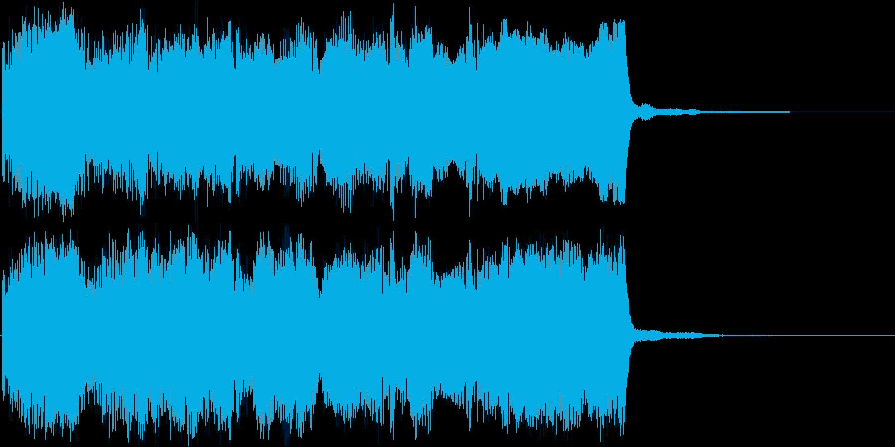 静かに立ち上がるようなイメージのジングルの再生済みの波形