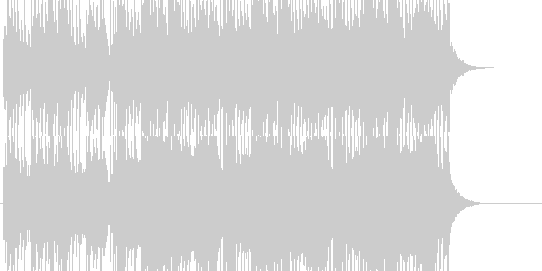 太鼓、琴、弦の和風曲の未再生の波形