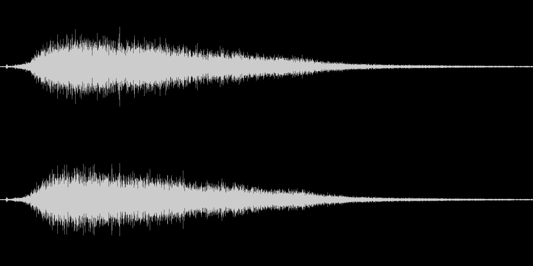 【プシュー】蒸気などを排出する音の未再生の波形