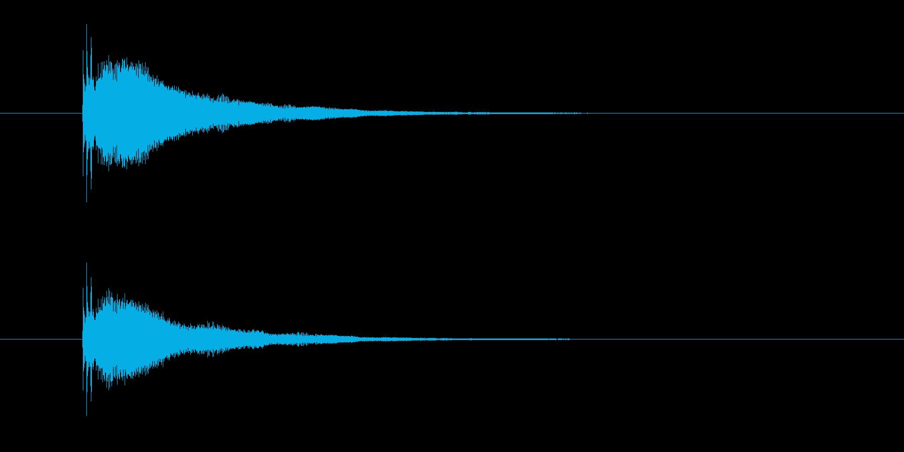 カーン(鐘、金属)の再生済みの波形