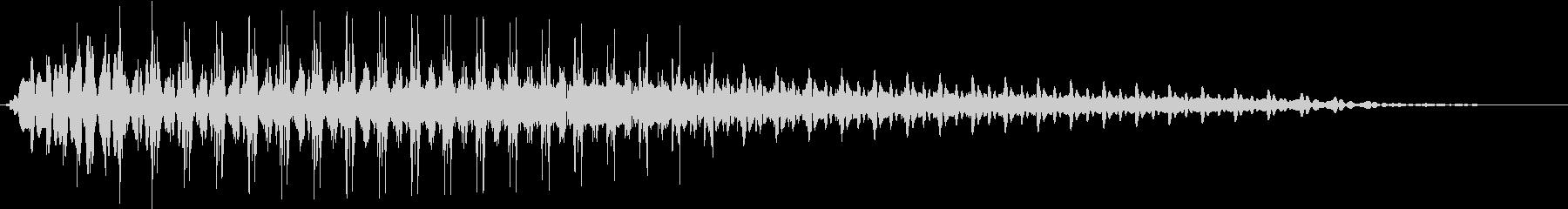 Beam ライトセーバー風 ブォーン音の未再生の波形
