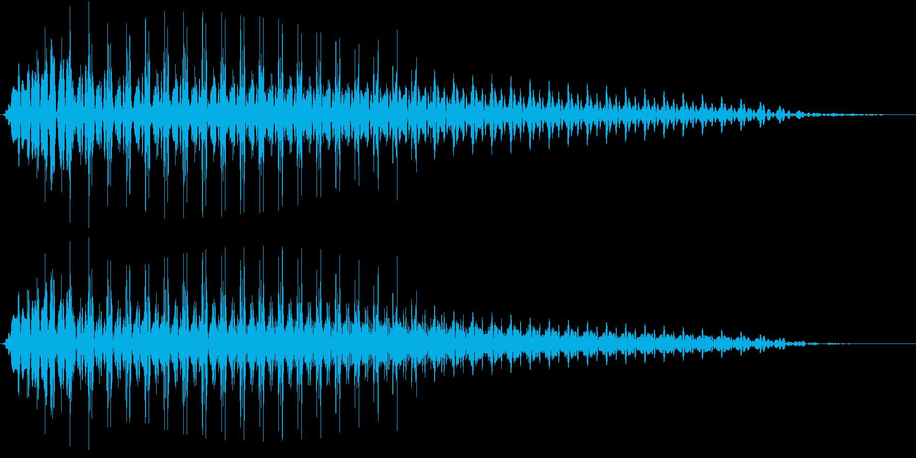 Beam ライトセーバー風 ブォーン音の再生済みの波形