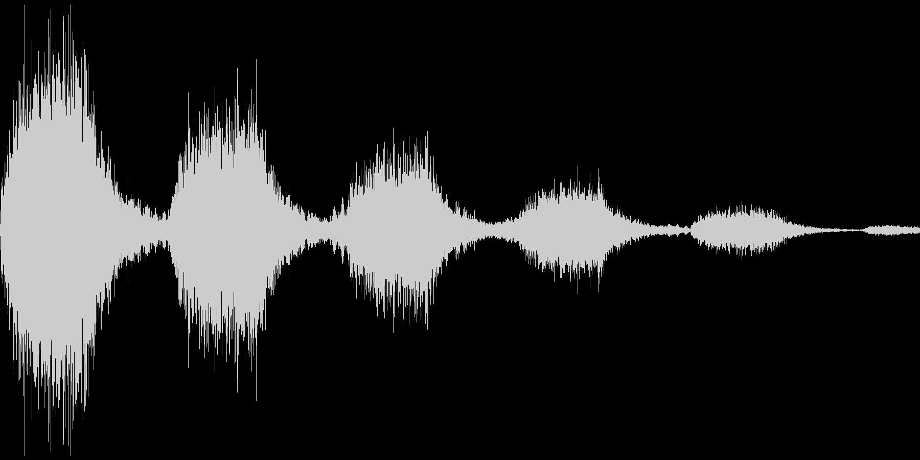 決定音(怖い感じ)の未再生の波形