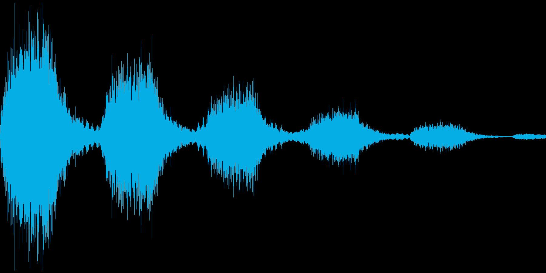 決定音(怖い感じ)の再生済みの波形