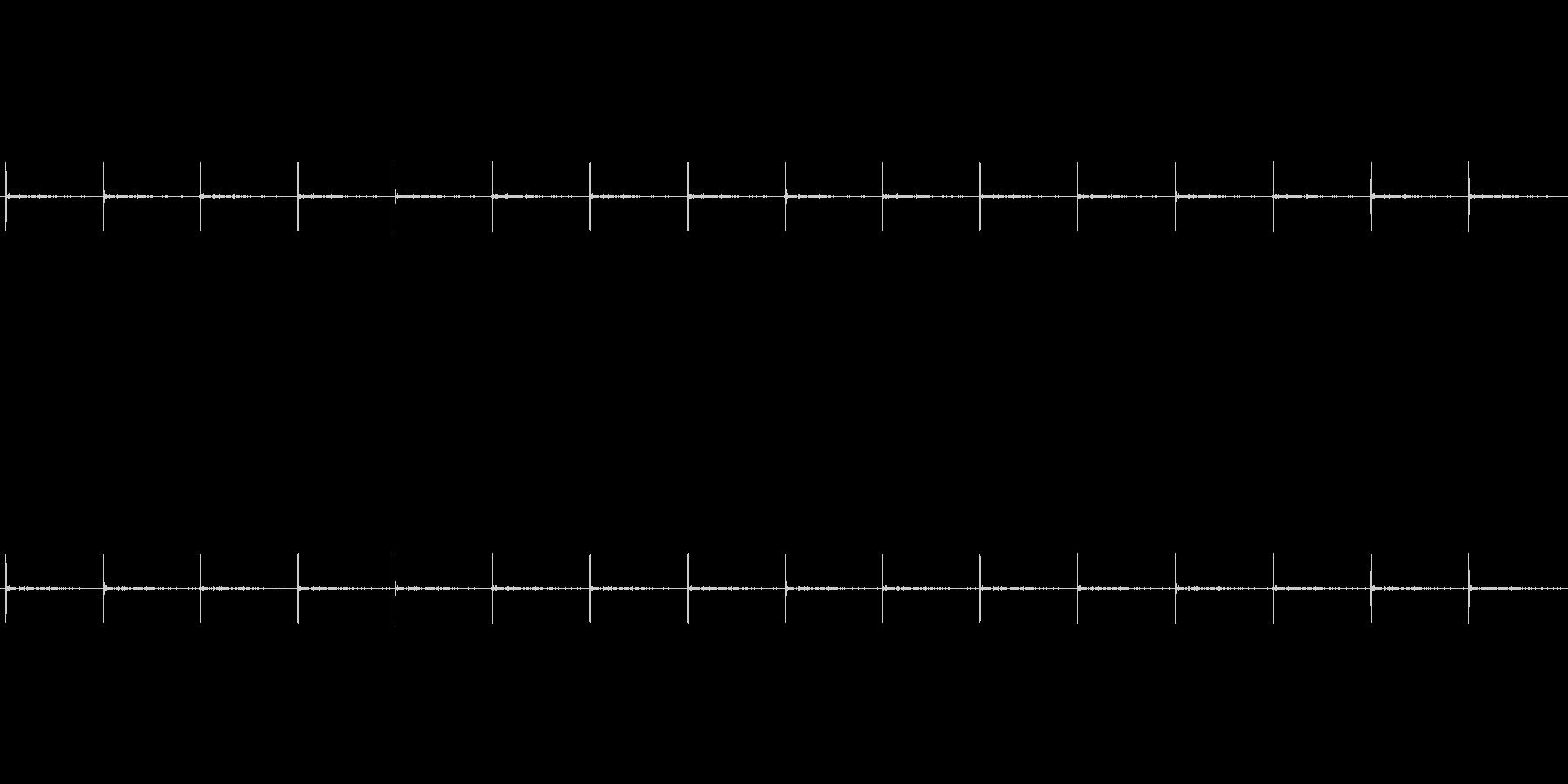 足音 (1)の未再生の波形