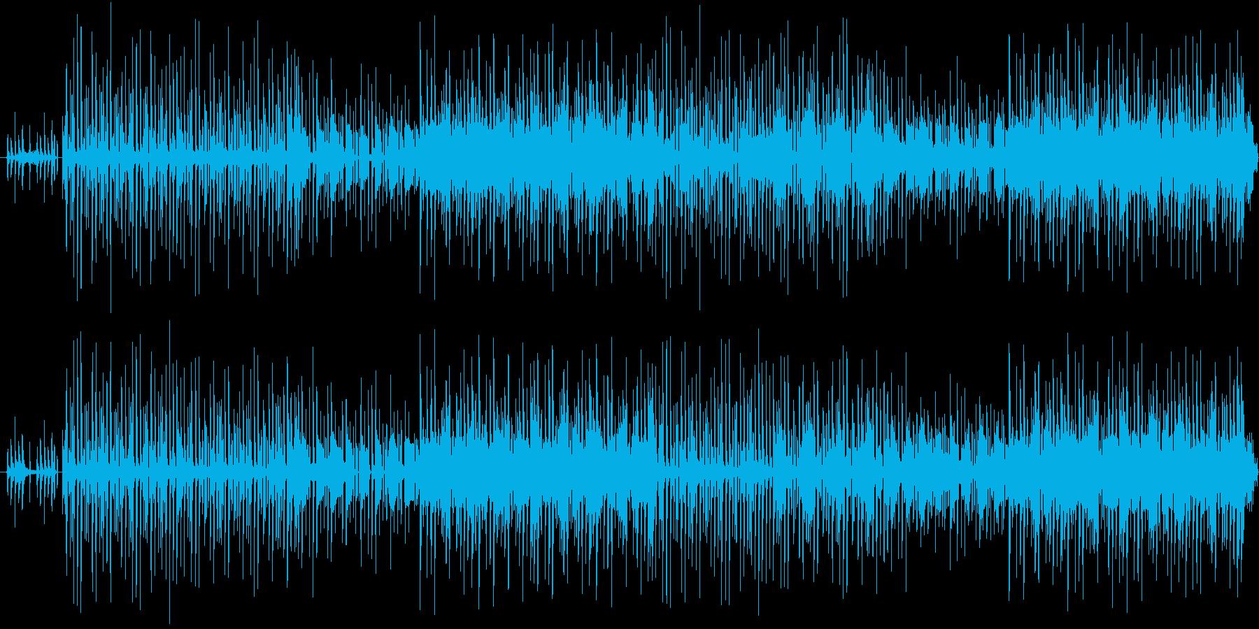 コミカルな曲調で柔らかい雰囲気のBGMの再生済みの波形