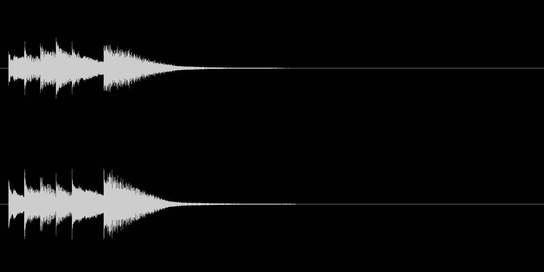 キラキラ音の着信音フレーズの未再生の波形