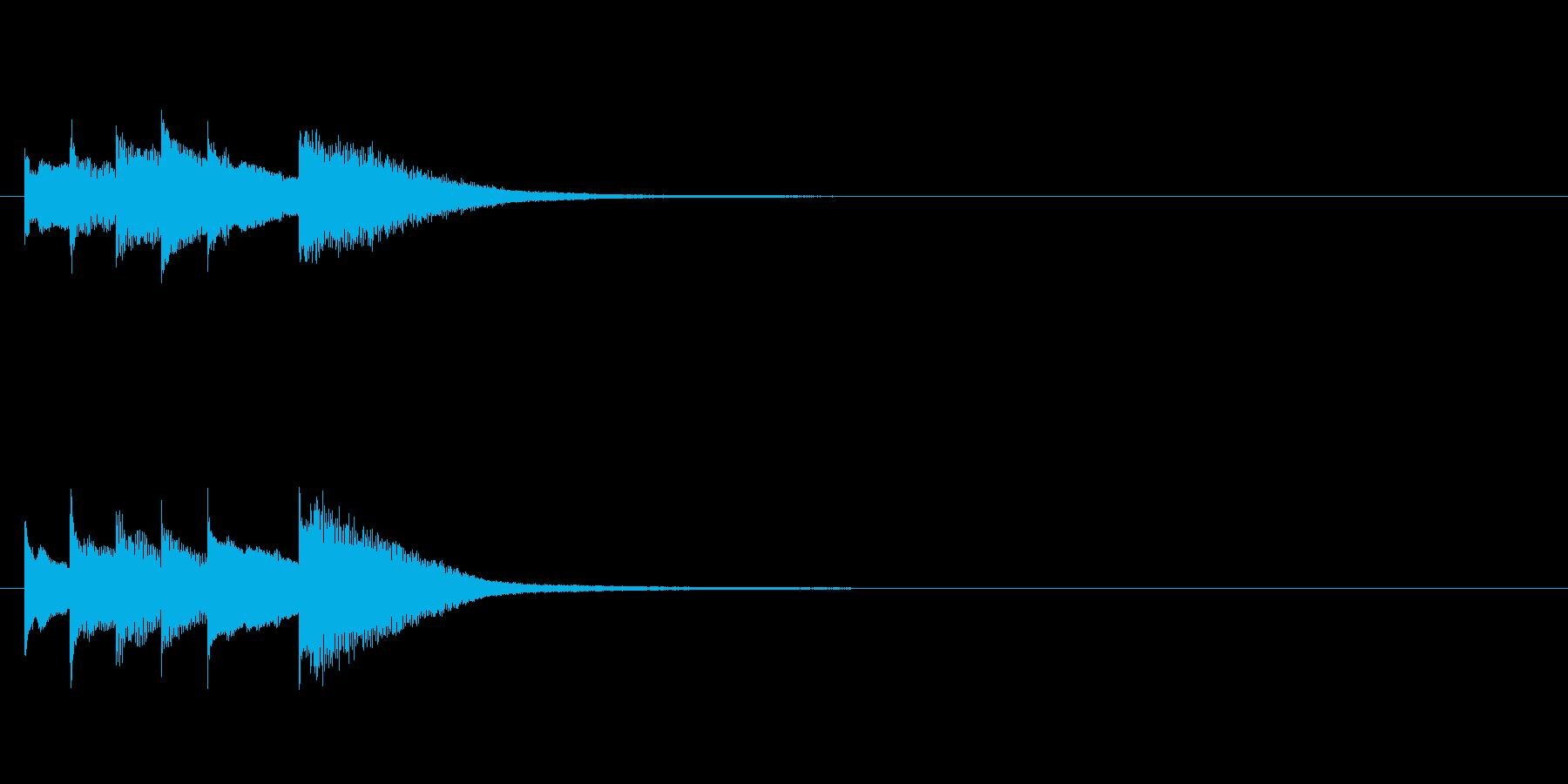 キラキラ音の着信音フレーズの再生済みの波形