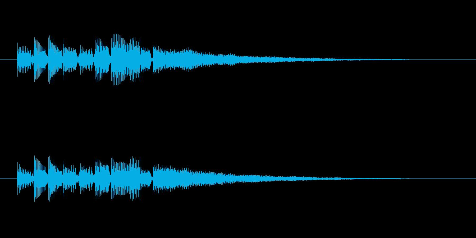 ベース・ギターのメロディーの再生済みの波形