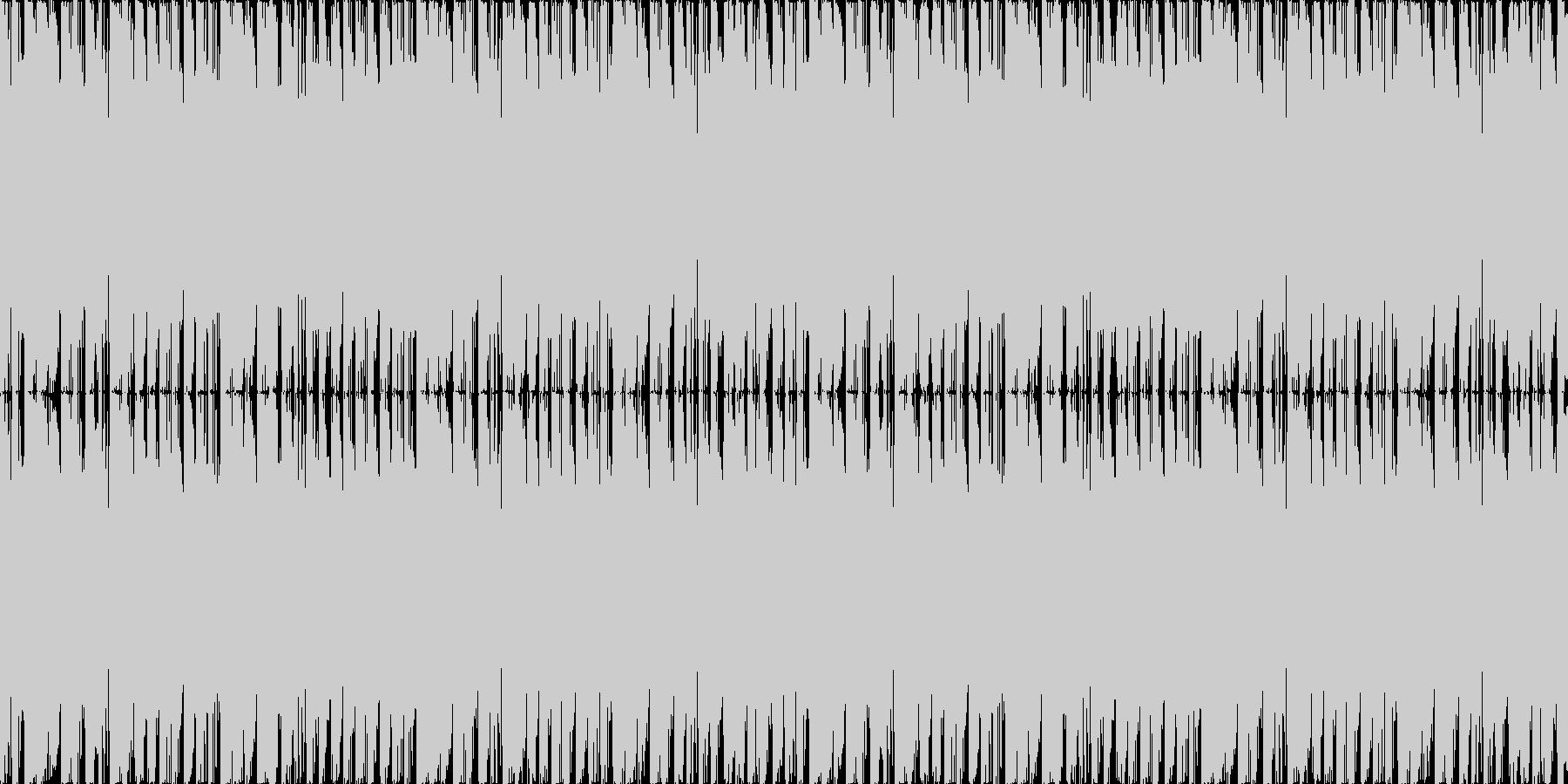 コミカルの未再生の波形