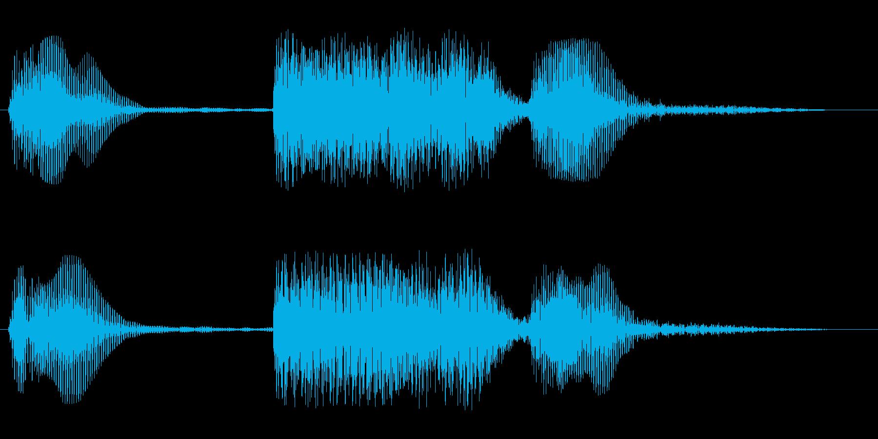 金管楽器風の短いフレーズの再生済みの波形