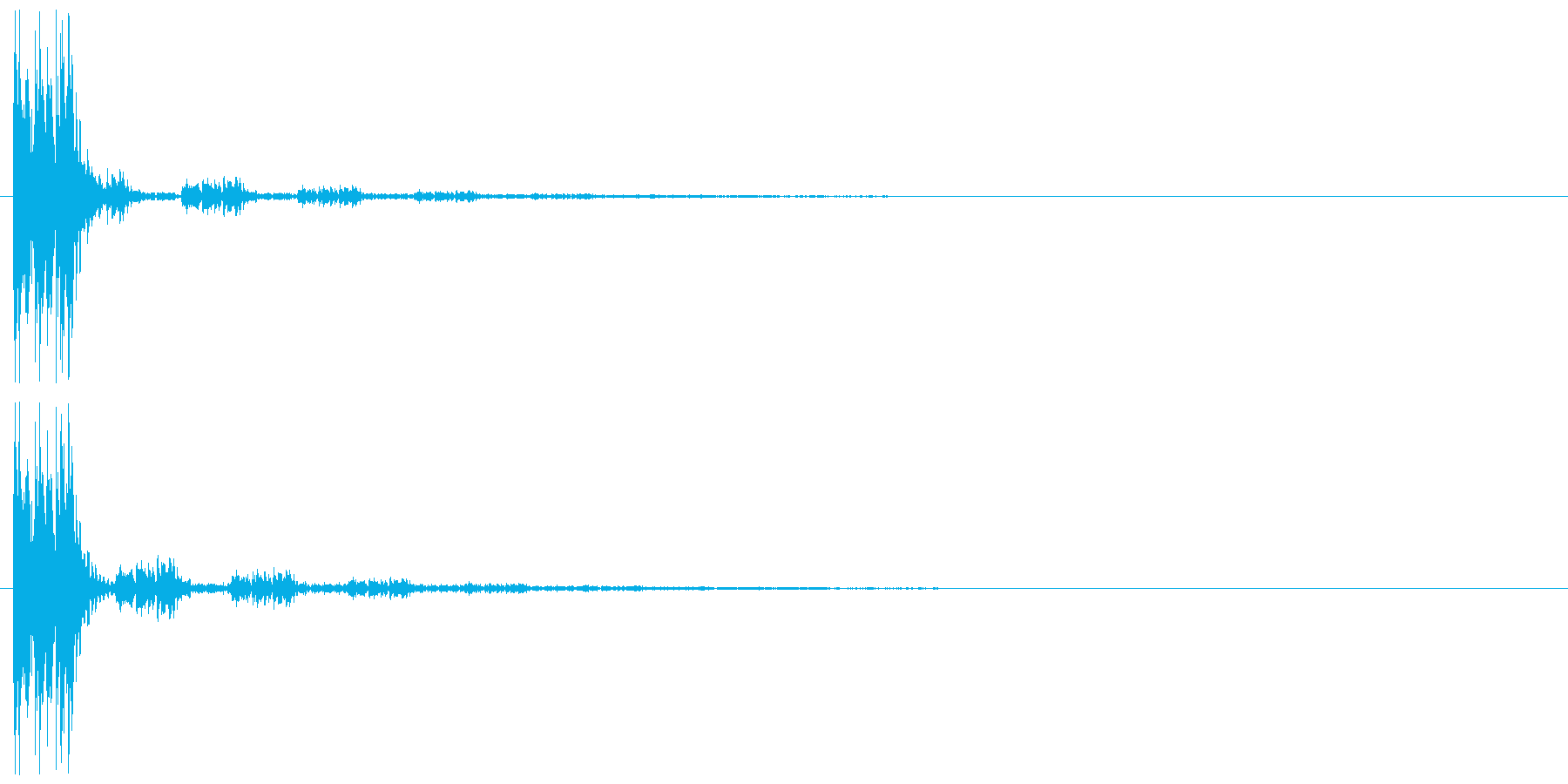 クリック(ゲーム、アプリ操作や決定音に)の再生済みの波形